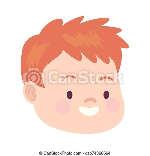 cartoon man laughing icon, flat design - csp74366664