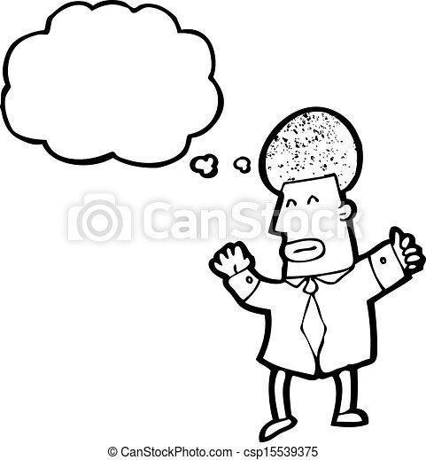 cartoon man thinking - csp15539375