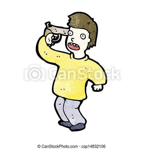 cartoon man with gun to head rh canstockphoto com cartoon picture gun to head cartoon character gun to head