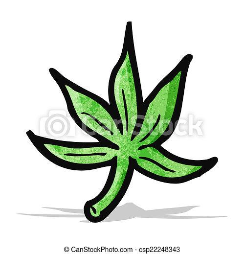 cartoon marijuana leaf vector