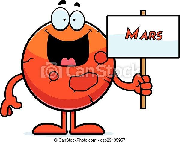cartoon mars sign a cartoon illustration of the planet mars rh canstockphoto com mission mars clipart bruno mars clip art