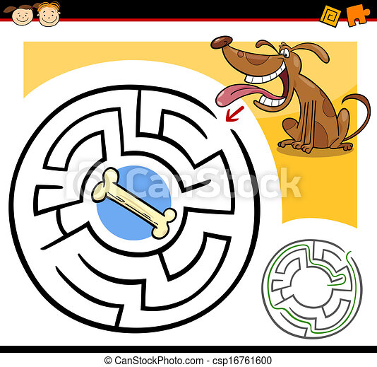 cartoon maze or labyrinth game - csp16761600