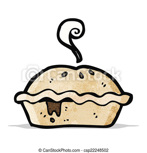 cartoon meat pie - csp22248502