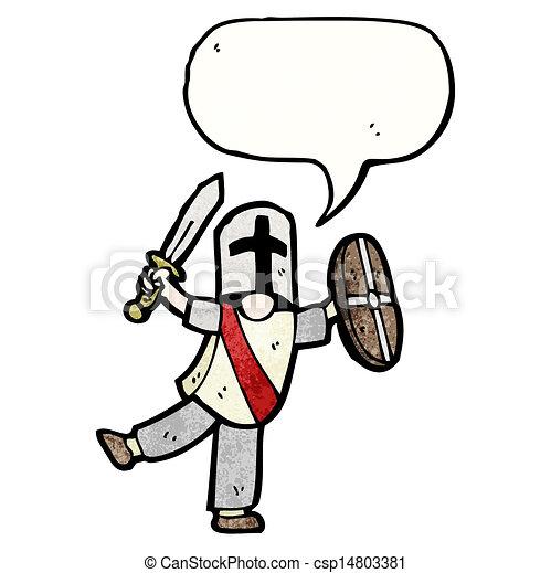 cartoon medieval knight - csp14803381