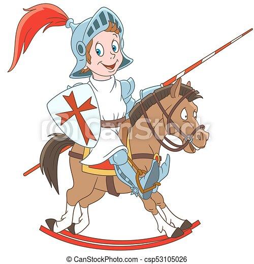 Cartoon medieval knight - csp53105026