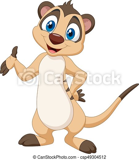 vector illustration of cartoon meerkat posing vector clip art rh canstockphoto com  cartoon meerkat clipart
