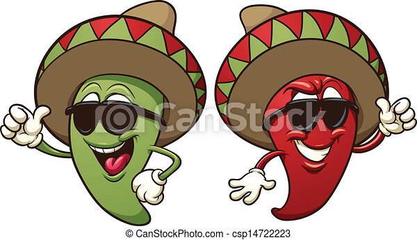 Cartoon mexican peppers - csp14722223