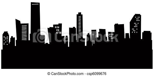 Cartoon Miami Skyline - csp6099676