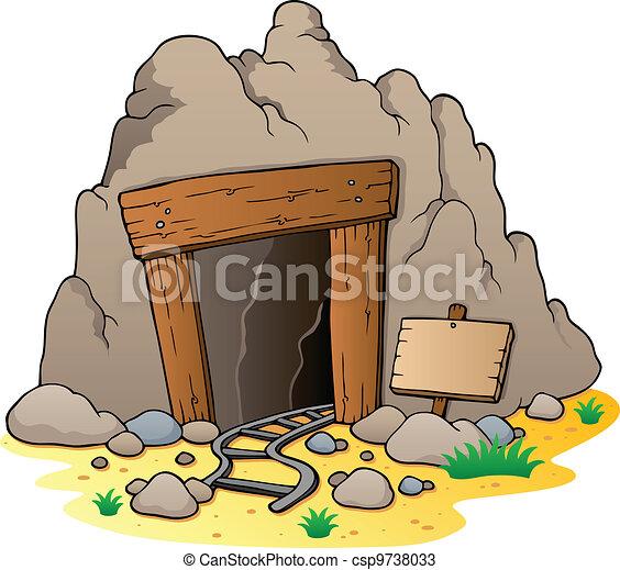Cartoon mine entrance - csp9738033