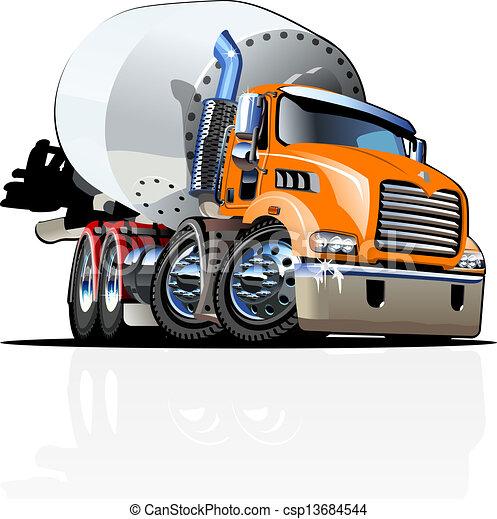 Cartoon Mixer Truck one click repaint option - csp13684544