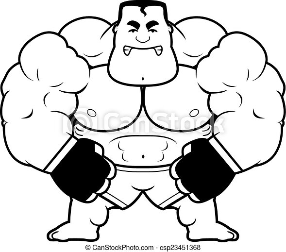 cartoon mma fighter angry a cartoon illustration of a mma fighter rh canstockphoto com Female MMA Clip Art mma clip art free