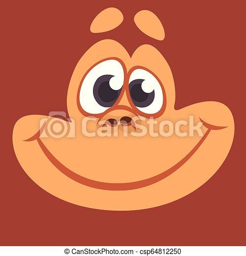 Cartoon monkey head face - csp64812250