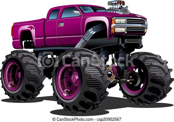 Cartoon Monster Truck - csp20952567