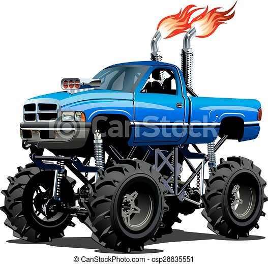 cartoon monster truck available eps 10 separated by groups rh canstockphoto com monster truck clip art free blaze monster truck clipart