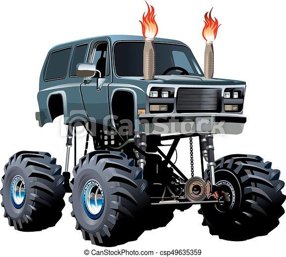 Cartoon Monster Truck - csp49635359