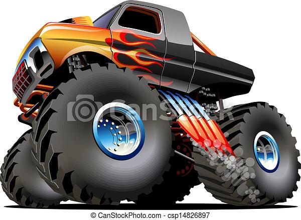Cartoon Monster Truck - csp14826897