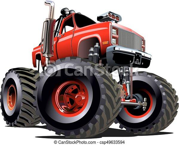 Cartoon Monster Truck - csp49633594