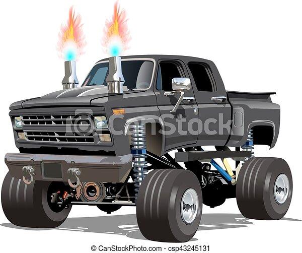 Cartoon Monster Truck - csp43245131