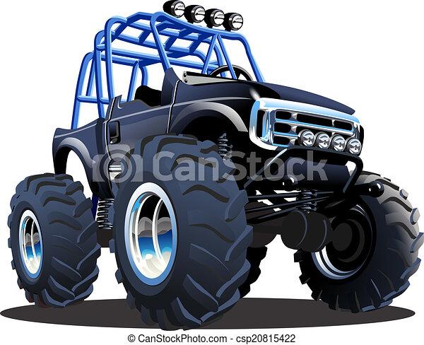 Cartoon Monster Truck - csp20815422