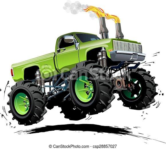 Cartoon Monster Truck - csp28857027