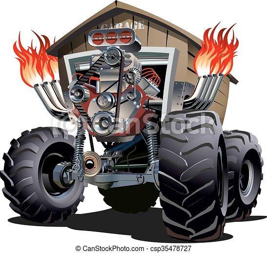 Cartoon Monster Truck - csp35478727