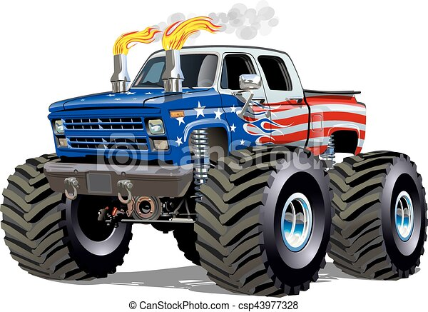 cartoon monster truck available eps 10 separated by groups rh canstockphoto com monster truck clip art free monster truck clipart images