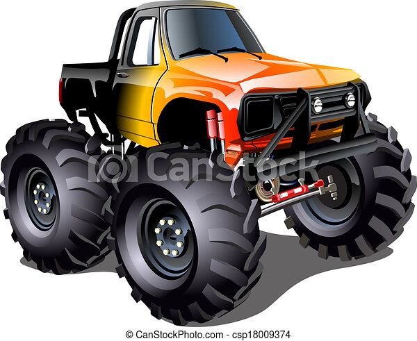 vector cartoon monster truck available eps 10 vector format rh canstockphoto com monster truck clip art free for birthdays monster truck clip art black and white