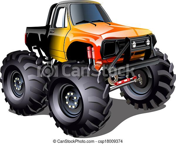 vector cartoon monster truck available eps 10 vector format rh canstockphoto com monster truck clip art free for birthdays monster truck clip art free