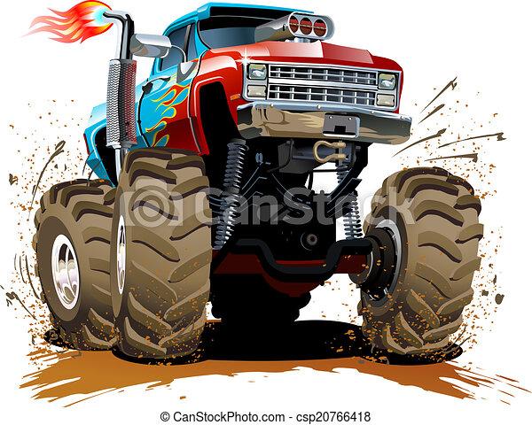Cartoon Monster Truck - csp20766418