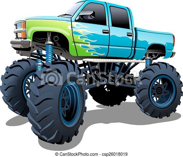Cartoon Monster Truck - csp26018019