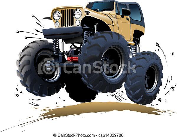 Cartoon Monster Truck - csp14029706
