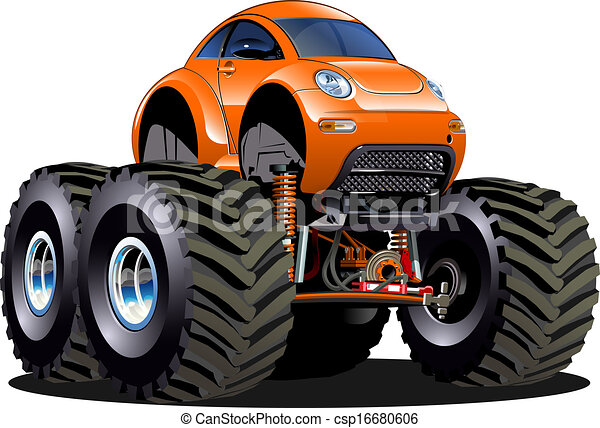 Cartoon Monster Truck - csp16680606