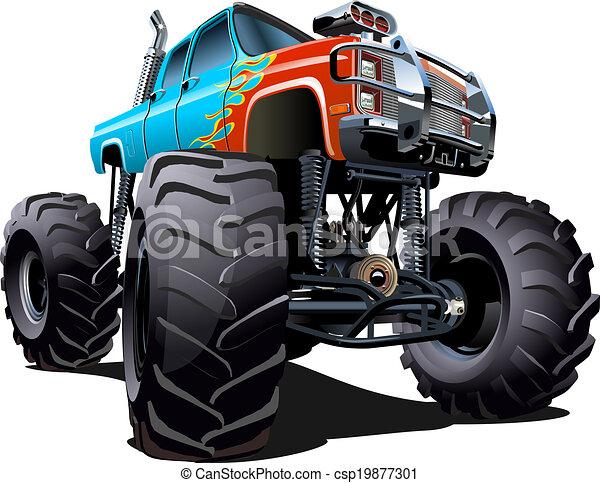 Cartoon Monster Truck - csp19877301