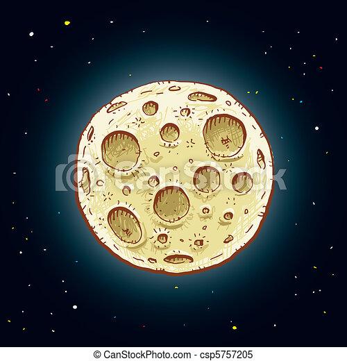 Cartoon Moon A Glowing