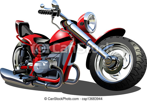 Cartoon Motorcycle - csp13683944