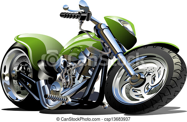 Cartoon Motorcycle - csp13683937