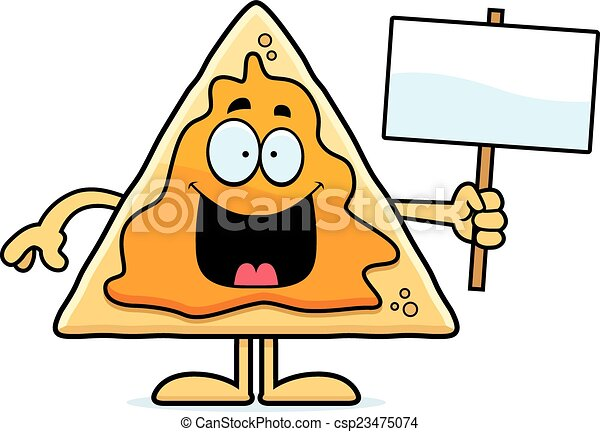 cartoon nachos sign a cartoon illustration of a nacho chip rh canstockphoto com nacho libre clip art nacho clip art free