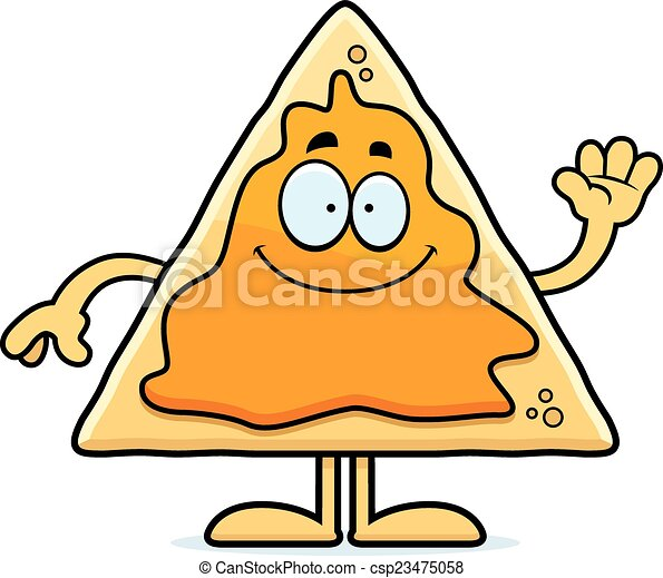 cartoon nachos waving a cartoon illustration of a nacho chip waving rh canstockphoto com free clipart nachos and cheese nachos clipart pictures