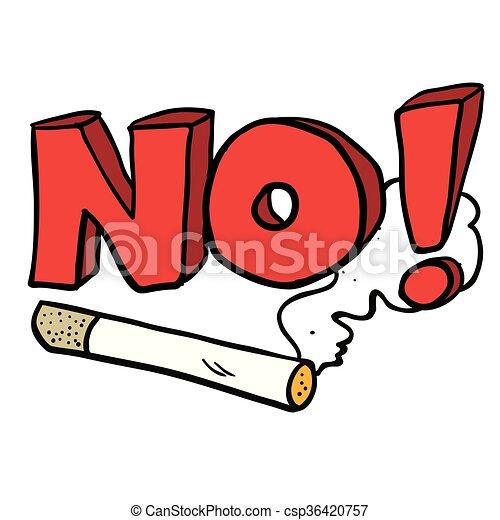 cartoon no smoking cigarette sign cartoon illustration of no