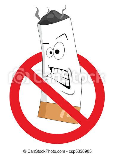 Cartoon no smoking sign - csp5338905