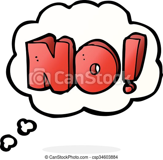 Cartoon No Symbol With Thought Bubble Vector Search Clip Art