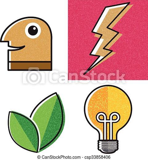 Cartoon object design - csp33858406