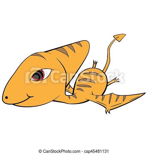 illustration of cute cartoon of baby pterodactyl dinosaur drawings rh canstockphoto com  pterodactyl dinosaur clipart