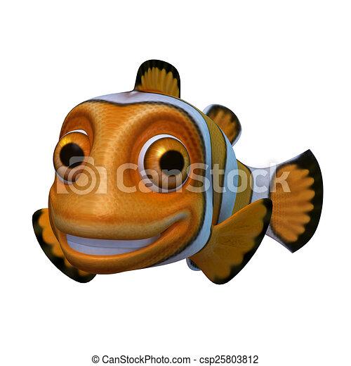 Cartoon Of Clown Fish 3d Render Cartoon Of Clown Fish