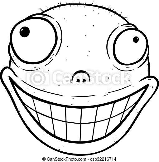 Cartoon of crazy smile - csp32216714