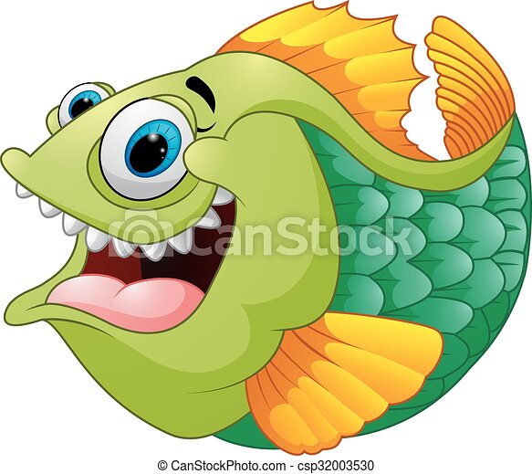 vetor illustration of cartoon of green piranha vectors search clip rh canstockphoto co uk  piranha clipart free