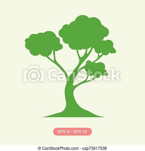 Cartoon Of Green Tree Icon Silhouette Vector Design Element Flat Tree Graphic Design Vector Vector Illustration Eps 8 Eps Cartoon tree icon illustrations & vectors. can stock photo