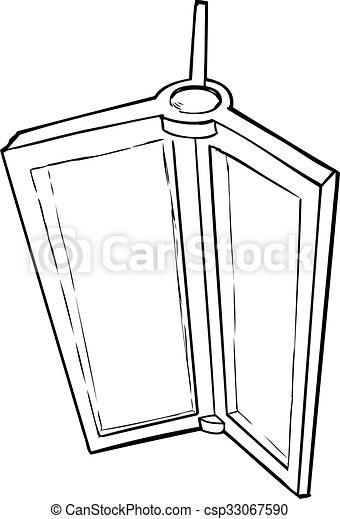 Cartoon Of Revolving Door Part Outlined Illustration Of Revolving