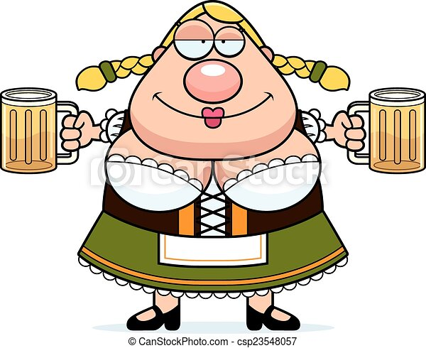 cartoon oktoberfest woman beer a cartoon illustration of a rh canstockphoto com free oktoberfest clip art images free oktoberfest clipart
