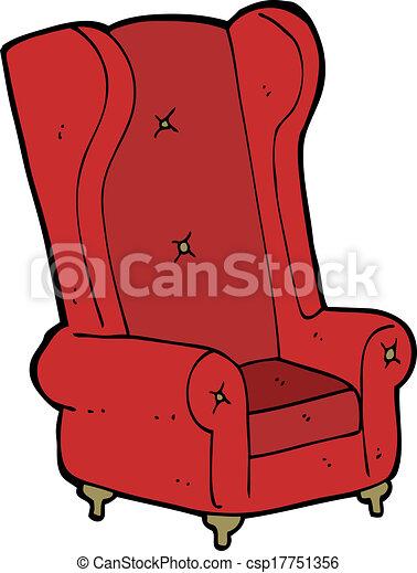 Cartoon Old Armchair   Csp17751356